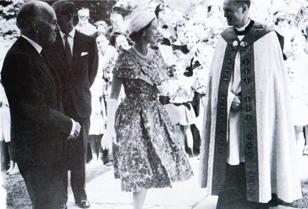 1959, Queen Elizabeth II and Prince Philip were guest at St Marks