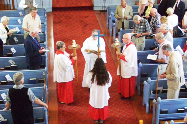 The Procession and Reading of the Gospel, St Marks Anglican Church